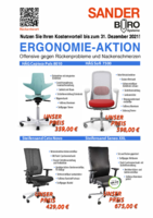 Sander Bürosysteme - Ergonomie-Aktion